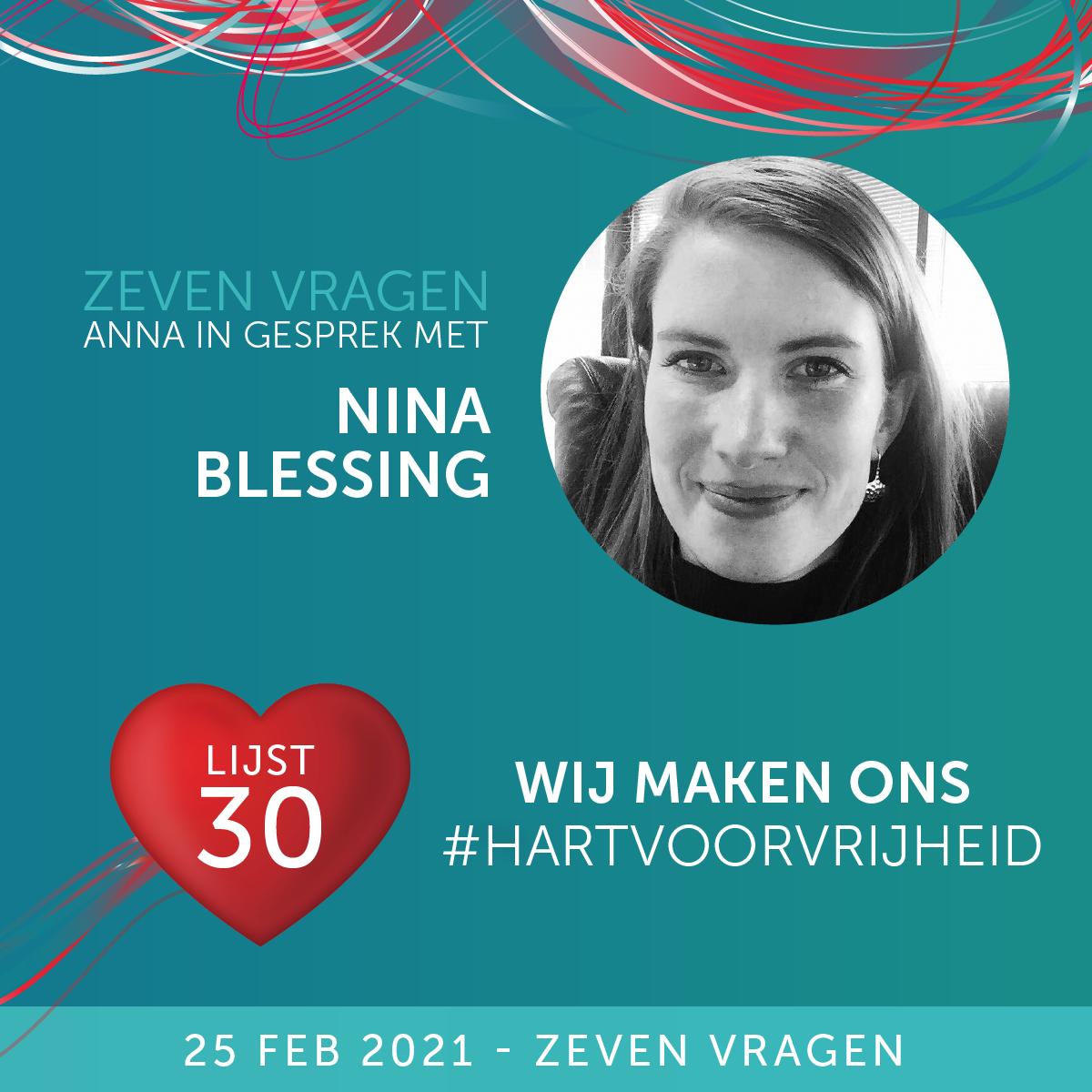 Zeven vragen - Nina Blessing